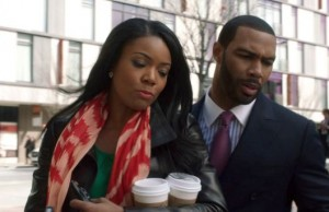"Gabrielle Union and Omari Hardwick in a tense scene in ""Being Mary Jane."""