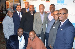 Ascension Three Leadership Group with BET Exec and Sponsors Bottom Row - Tarek Stevens, Anthony Anderson Standing - Ronald Montgomery, Christopher Chestnut (The Chestnut Firm), Hermond Palmer (Industrial Bank), Chris Spencer, Robert Rumley (Morgan Stanley), Reginald Williams (BET), Scott Bolden (Reed Smith), Donald Woodard. Photo by Elizabeth Townsend