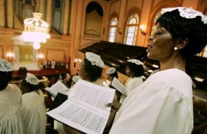 The Faithful Celebrate Easter At Harlem Church